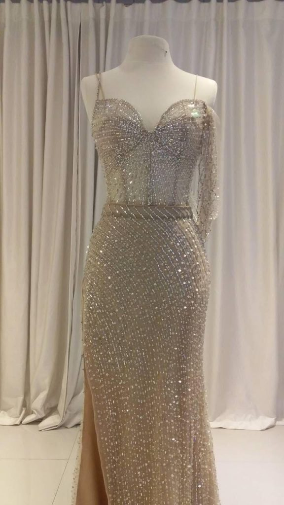 Who Designed Coleen Garcia Crawfords Reception Dress